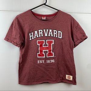 Harvard Maroon Short Sleeve Top Size 16